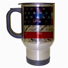 Flag Travel Mug (Silver Gray)