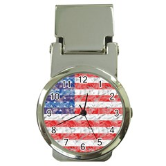 Flag Money Clip with Watch