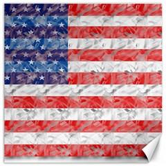 Flag Canvas 12  X 12  (unframed)