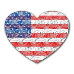 Flag Mouse Pad (Heart)