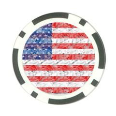 Flag Poker Chip (10 Pack)