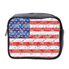 Flag Mini Travel Toiletry Bag (two Sides)