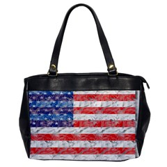 Flag Oversize Office Handbag (One Side)