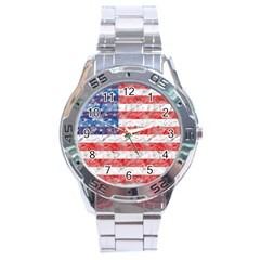 Flag Stainless Steel Watch