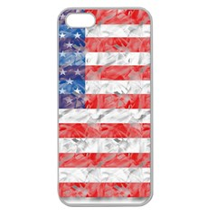 Flag Apple Seamless Iphone 5 Case (clear)
