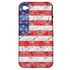 Flag Apple iPhone 4/4S Hardshell Case (PC+Silicone)