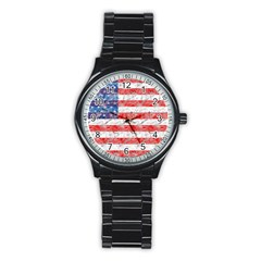 Flag Sport Metal Watch (black)