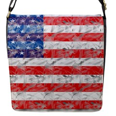 Flag Flap Closure Messenger Bag (Small)