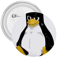 Angry Linux Tux penguin 3  Button