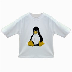 Angry Linux Tux penguin Baby T-shirt