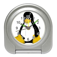 Angry Linux Tux penguin Desk Alarm Clock