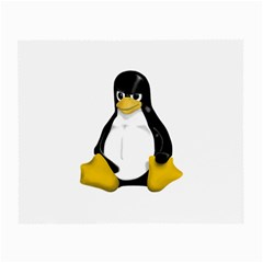 Angry Linux Tux penguin Glasses Cloth (Small, Two Sided)