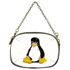 Angry Linux Tux penguin Chain Purse (Two Sided)
