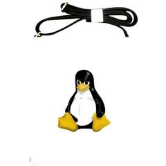 Angry Linux Tux penguin Shoulder Sling Bag