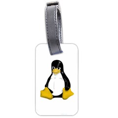 Angry Linux Tux penguin Luggage Tag (Two Sides)