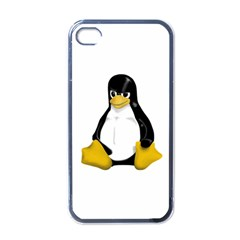 Angry Linux Tux Penguin Apple Iphone 4 Case (black)