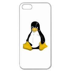 Angry Linux Tux Penguin Apple Seamless Iphone 5 Case (clear)