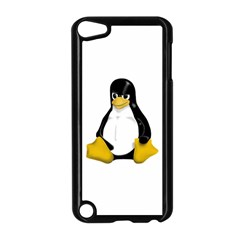 Angry Linux Tux penguin Apple iPod Touch 5 Case (Black)