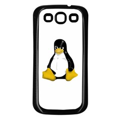 Angry Linux Tux penguin Samsung Galaxy S3 Back Case (Black)