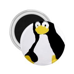 PRIMITIVE LINUX TUX PENGUIN 2.25  Button Magnet