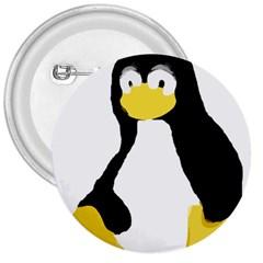 PRIMITIVE LINUX TUX PENGUIN 3  Button