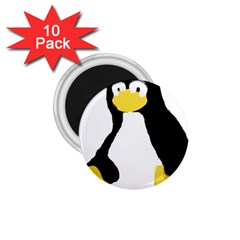 PRIMITIVE LINUX TUX PENGUIN 1.75  Button Magnet (10 pack)