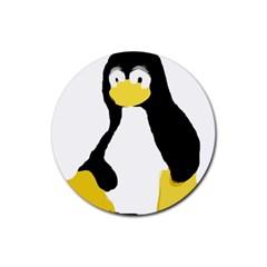 Primitive Linux Tux Penguin Drink Coasters 4 Pack (round)