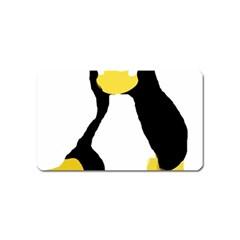 PRIMITIVE LINUX TUX PENGUIN Magnet (Name Card)