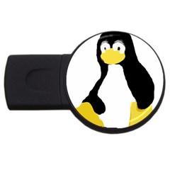 PRIMITIVE LINUX TUX PENGUIN 2GB USB Flash Drive (Round)