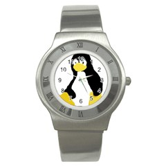PRIMITIVE LINUX TUX PENGUIN Stainless Steel Watch (Slim)