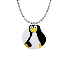 PRIMITIVE LINUX TUX PENGUIN Button Necklace