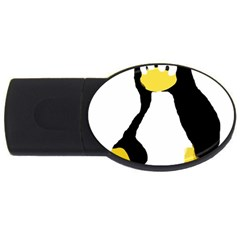 PRIMITIVE LINUX TUX PENGUIN 4GB USB Flash Drive (Oval)