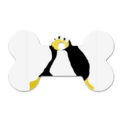 Primitive Linux Tux Penguin Dog Tag Bone (two Sided)