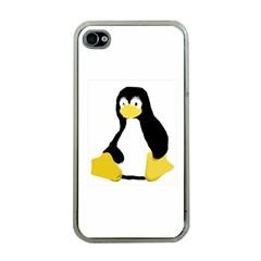 PRIMITIVE LINUX TUX PENGUIN Apple iPhone 4 Case (Clear)