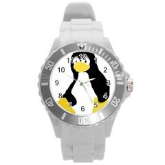 PRIMITIVE LINUX TUX PENGUIN Plastic Sport Watch (Large)