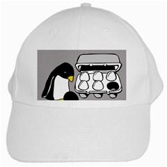 Egg Box Linux White Baseball Cap