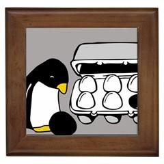 Egg Box Linux Framed Ceramic Tile