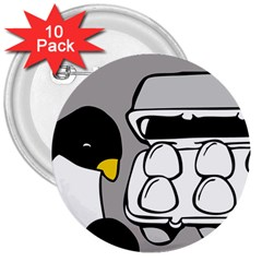 Egg Box Linux 3  Button (10 pack)