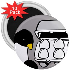 Egg Box Linux 3  Button Magnet (10 Pack)
