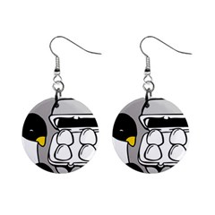 Egg Box Linux Mini Button Earrings