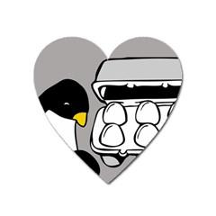 Egg Box Linux Magnet (Heart)