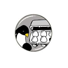 Egg Box Linux Golf Ball Marker 4 Pack (for Hat Clip)