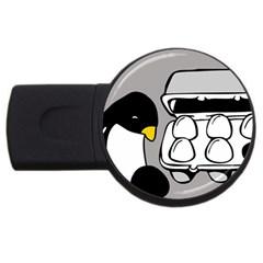 Egg Box Linux 4GB USB Flash Drive (Round)