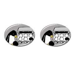 Egg Box Linux Cufflinks (Oval)