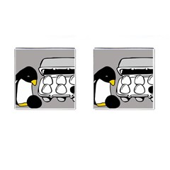 Egg Box Linux Cufflinks (Square)