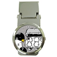 Egg Box Linux Money Clip with Watch
