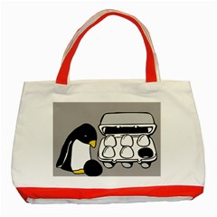 Egg Box Linux Classic Tote Bag (red)