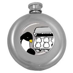 Egg Box Linux Hip Flask (Round)