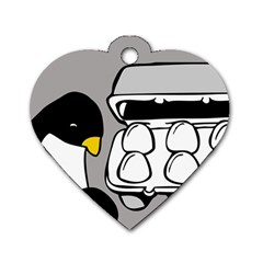 Egg Box Linux Dog Tag Heart (two Sided)
