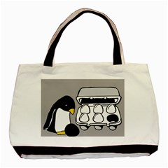Egg Box Linux Twin-sided Black Tote Bag